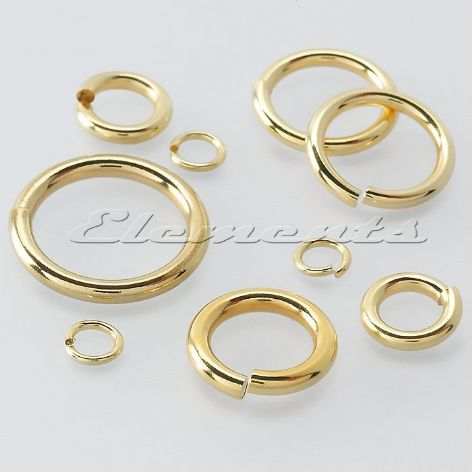 9ct Yellow Gold  6mm Open Jump Ring  Heavy Or Light